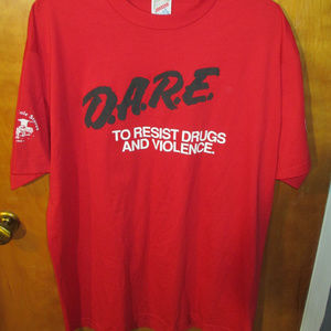 Vintage 90s DARE Red Shirt XL